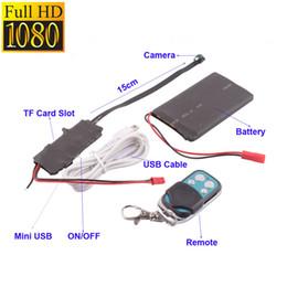 Wholesale Mini Spy Dv Remote - HD 1080P DIY Module SPY Hidden Camera H.264 Video MINI DV DVR Motion Remote Control S1