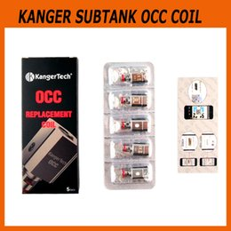 Wholesale Kanger Replacement Coils - Authentic Kanger vertical Subtank OCC Coil 0.15ohm Ni200 0.2ohm 0.5ohm 1.2ohm 1.5ohm kangertech Replacement Coil 100% genuine 2211040