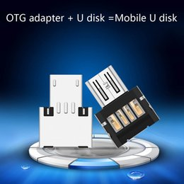Wholesale Otg Cable Galaxy - 1PCS The Bare Micro USB To USB OTG Adapter 2.0 Converter For Android Samsung Galaxy S3 S4 S5
