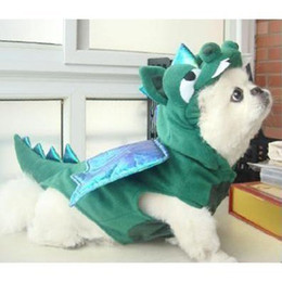 Wholesale Dinosaur Dog Clothes - Wholesale-PetsMall Cute Dogs Cat Dinosaur pretty Costumes Clothes Apparel Green Color