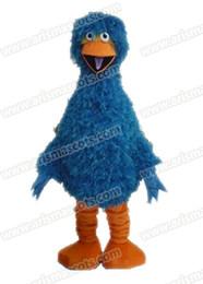 Wholesale Big Bird Costumes - AM9204 Blue Big Bird mascot costume Fur mascot suit animal mascot outfit adult fancy dress