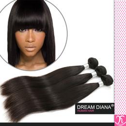 Regina capelli umani a buon mercato online-King Hair Cheap Remy 100 prodotto per capelli umani non trasformati dritto dritto 3 pz ali regina prodotti per capelli capelli vergini brasiliani vendita capelli moka