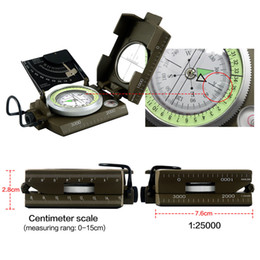 Wholesale Compass Military - Wholesale-newest Professional compass Military Army Geology Compass Sighting Luminous Compass for Outdoor Hiking Camping free shipping