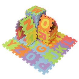 Canada Gros- 36pcs / set Puzzle Nombre Lettre Alphabet Eva Tapis De Mousse Enfants Doux Développant Rampant Bébé Jouet Tapis De Sol Tapis de Sol Pour Bébé jeux supplier wholesale play mats Offre