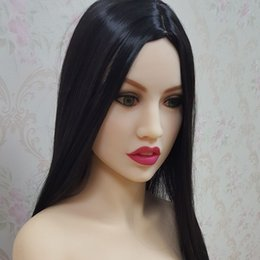 Wholesale Sexy Life Mannequin - #63 cool girl face oral sex doll head for big size sexy dolls 135cm 140cm 148cm 153cm 152cm 155cm 158cm 163cm 165cm 170cm.