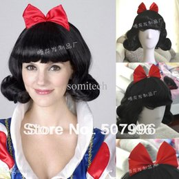 Wholesale Anime Black Wig - Wholesale-halloween cosplay costume for women snow white princess black wigs D-1055