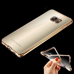 Wholesale Gild Phone - For Samsung S7 Edge Royal Luxury style Plating Gilded TPU Phone Case For Samsung Galaxy S7 S7 edge silicone soft Back Case Cover