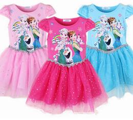 Wholesale Kids Watermelon Costume - Princess Girl Dress kids Baby Girl Dress Children Clothing fever anna elsa dress Girls Cosplay Costume fantasia Vestido Infantis