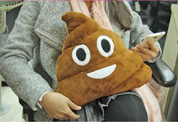 Wholesale Toy Shit - Cushion Emoji Pillow Gift Cute Shits Poop Stuffed Toy Doll Christmas Present Funny Plush Bolster Pillows EMS Free
