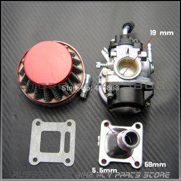 Wholesale 47cc Stroke Engine - 2 stroke pocket bike 19mm carburetor set [ carb & air filter] for kids mini bike ATV with 47cc 49cc engine