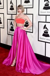 Wholesale Swift Celebrity - 2016 Grammy Awards Celebrity Dresses Taylor Swift In Two Pieces Prom Gowns Red Carpet Mermaid Long Front Split Evening Wears