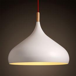 Wholesale Nordic Minimalist - New modern minimalist style of Nordic personality white pendant light lamp Coffee hall bar room restaurant pendant lamp lighting