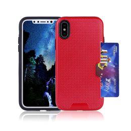 Wholesale X5 Green - For LG Aristo 2 X210 G5 G6 V10 V20 V30 LV7 X5 Wallet Design Card Holder Slot Woven Slim Dual Layer Luxury Phone Case