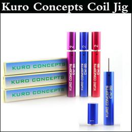 Outil de bobinage kuro en Ligne-Kuro Concepts Kuro Koiler Jauge pour Cigarette RDA RBA Outil de bobinage de fil Atomiseur Bobine Outil de fil Koiler 3 couleurs DHL gratuit