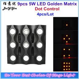 Wholesale Matrix Sounds - Wholesale- New Design 9pcs 5W Golden LED Matrix Efffect Light 3*3 9pcsx 5W Amber Yellow Color Dot Individual Control LED Maxtrix Blinder