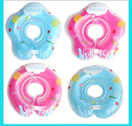 Wholesale Circle Protection - Adjustable 4 Colors Inflatable Circle New Born Infant Swimming Neck Baby Swim Ring Float Ring Safety Double Protection for 0-18Months