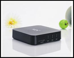 Wholesale Android Smart Tv Xbmc - MX 1+8 XBMC Android4.2 Smart TV Box Media Player 1080P Wifi HDMI Wireless Android TV Box MX black