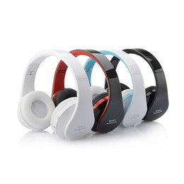 Wholesale Cool Ear Headphones - Wholesale-Super Cool!! Wireless Bluetooth Stereo Foldable Headset Handsfree Headphones Earphone Earbuds with Mic for iPhone Galaxy HTC