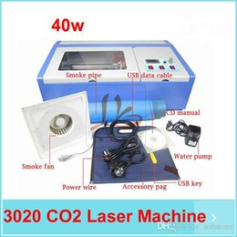 Wholesale Digital Machine Laser - Free shipping, 110 220V 40W 200*300mm Mini CO2 Laser Engraver Engraving Cutting Machine with digital function and honeycomb USB port.