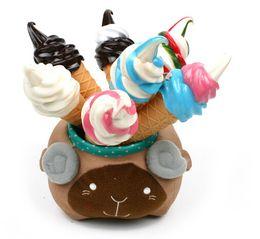 Wholesale Kawaii Magnets - Brand new cute Ice Cream Fridge Magnet kawaii korean ball point pen gift toy for kid stationery school office supplies