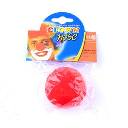 Wholesale Fun Party Favors - Sponge Nose Nose Clips Nose Smaller Clown New Fun Red Sponge Clown Noses for Circus Halloween Carnival Party Favors Clown Noses Show Time