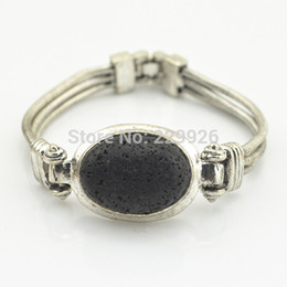 Wholesale Middle Eastern Food - B1222-1 Natural Lava Rock Volcano Stone Bracelet 1PC Vintage Look Volcano for Cuff bracelet bangle nice gift for women