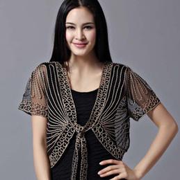 Wholesale Chiffon Shawl Cardigan - Wholesale- 2017 High quality Summer Fashion Womens Clothing Wild Perspective Small Shawl Chiffon Lace Cardigan Gauze Lacing Boleros 802E 30