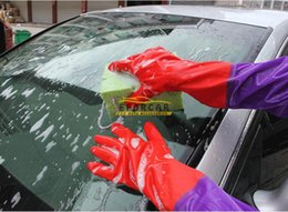 Wholesale Cooking Brands - Brand New Good Quality Warm Velvet Skin Wash Gloves For Cleaning Cars Kitchen Household Cook Waterproof Non-slip Rubber