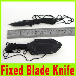 Wholesale American Blade Knife - Promotion American Fixed Blade Tactical Knife Hunting Knives Multifunction Knives Multi tool Kit Free shipping 472X
