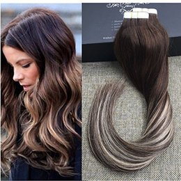 Wholesale New Remy Tape Hair Extensions - New brand Queen virgin hair tape in human hair extensions 2.5g per pc 40pcs per set remy indian hair