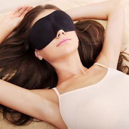 Wholesale 3d Travel Sleep Mask - Fashion 3D 23*9cm Sleep Rest Travel Eye Mask Sponge Cover Blindfold Shade Eyeshade 1 piece free shipping