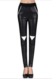Wholesale Good Buttocks - Europe and the United States the new women winter show thin stitching quality goods carry buttock tight leather pants. S - XL