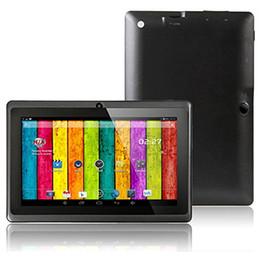 Wholesale Cortex A8 Inch - 7 inch Android 4.2 Tablet PC Q88 Cortex A8 1.2 Ghz Dual Core Processor 512mb 4gb Dual Camera hdmi g-sensor Black Free Shipping
