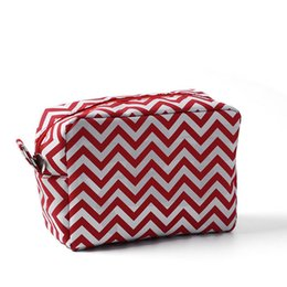 Wholesale Grey Chevron Bag - 11 Colors Microfiber Chevron Cosmetic Bags & Cases Zipper Closure Bridesmaid And Graduation Great Gifts(Ships in 24 hours)