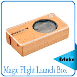 Wholesale Magic Flight Launch - New Magic Flight Launch Box Kits vaporizer dry herb vapor Gift box package Wooden storage Container0211121