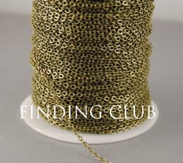 Wholesale Gold 2mm - New factory 20 Meters 2mm Silver Bronze Gold Plated Chain Flat Cable Chain Findings in Bulk C02