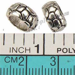 Wholesale Oval 5mm - Jewelry Accessories Charms Round Beads Pandora Bracelets DIY 6mm Large Hole Antique Silver Metal 10*5mm For Crafts Making Free Ship 200pcs