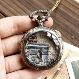 Wholesale Arch Triumph - Free shipping wholesale dropship 2014 hot sale vintage fashion the arch of triumph high quality pocket watch