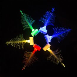 Wholesale Led Fiber Optic Christmas Trees - 30pcs Christmas Colorful LED Fiber Optic Flower Optical Lamp Small Light fibre Nightlight Holiday Lighting Decoration Christmas Tree Gift
