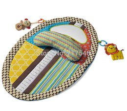 Wholesale Baby Toy Mirrors - Baby Play Mat Changing Pad With Stuffed Animal toy ,Pillow,Safety Mirror early Education
