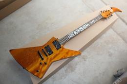 Wholesale Emg Pick Ups - HOT wholesale High Quality EMG pick-up Explorer Custom Yellow Satin electric guitar music instruments