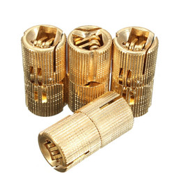 Wholesale 4pcs mm Brass Barrel Invisible Concealed Hinge For Caravan Worktops order lt no track