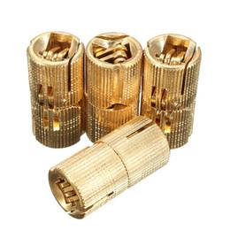 Wholesale Hinge Brass - 4pcs 14mm 4Pcs Brass Barrel Invisible Concealed Hinge For Caravan Worktops order<$18no track