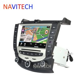 Wholesale Chinese Din Gps - car dvd gps stereo radio navigation for honda accord 7 2003-2007 Bluetooth Stereo Radio dual   Single Zone Climate Control