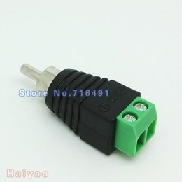 Wholesale Wholesale Cat5 Jacks - 50PCS LOT COAX-CAT5 RCA MALE JACK plug adapter for audio cable connector or video splitter to cctv camera Accessories