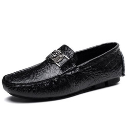 Wholesale Men Drivers Shoes - 2017 fall high quality mens Multicolor Genuine Leather luxury buckle Loafers Medusa Driving slippers driver shoes Plus Size EUR38-47