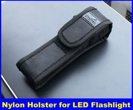 Wholesale Led Free Delivery - New Black Nylon Belt Holster Cover Pouch for UltraFire C8 E6 E17 A100 501B 502B LED Flashlight Torch 301 303 Laser Pen & DHL Free Delivery