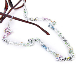 Wholesale Aluminum Chain Necklace - Wholesale-PHFU,Aluminum Eyeglasses Sunglasses Spectacles Glasses Chain Holder Necklace Cord 70CM---Colorful