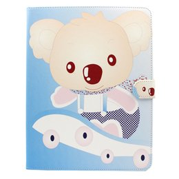 Wholesale Iphone S Case Flip - Cartoon Bear PU TPU Leather Shockproof Flip Case Cover for iPad 2 3 4 Tab 3 4 A S S2 free DHL