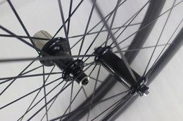Wholesale 24 Inch Road Wheel Set - 700c 50mm clincher road carbon wheelset Powerway R36 straight pull carbon hubs front 18 rear 24 holes Racing bike carbone wheels 25mm width